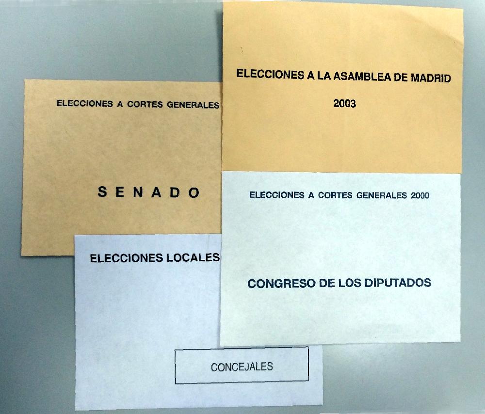 Sobres y papeletas para las elecciones